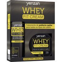 Yenzah Kit Whey Fit Cream Shampoo Máscara
