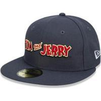 Boné New Era Infantil 59Fifty Tom & Jerry - Unissex-Cinza+Vermelho