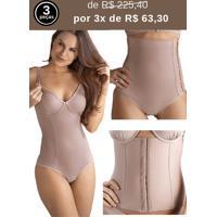 Body Modelador Amamentação + Cinta Pós Parto +Cinta Abdominal