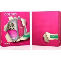 Kit Perfume Feminino Colors Pink Benetton Eau De Toilette 80Ml + Body Lotion 75Ml - Feminino