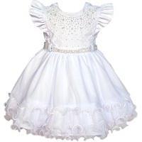 Vestido De Batizado Menina Bonita Branco