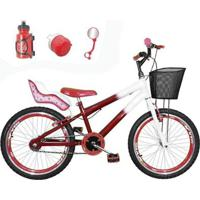 Bicicleta Infantil Aro 20 Kit E Roda Aero Com Cadeirinha - Feminino