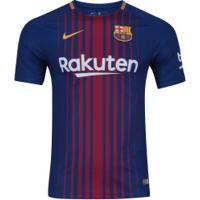 Camisa Barcelona I 17/18 Nike Com Patrocínio - Masculina - Azul