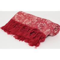 Manta Marrocos- Vermelha & Bege- 140X140Cm- Arteartesanal