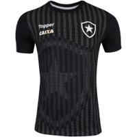 Camisa Do Botafogo Concentração Comissão Técnica 2018 - Masculina - Preto