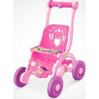 Carrinho Para Bonecas Princesas Da Disney Líder Rosa