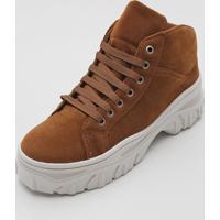 Bota Dad Sneaker Chunk Fiveblu Tratorada Caramelo