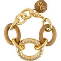 Dolce & Gabbana Pulseira Oversized Com Corrente - Dourado