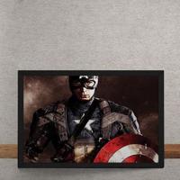 Quadro Decorativo Capitao America O Primeiro Vingador Marvel 25X35