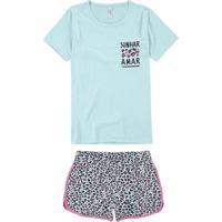 Pijama Feminino Curto Malwee 1000077218 02032-Verd