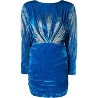Attico Vestido Com Paetês - Azul