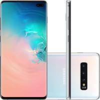Usado Smartphone Samsung Galaxy S10 Plus 128Gb G975 Desbloqueado Branco (Excelente)