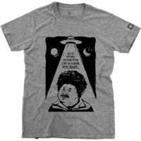 Camiseta Stoned Mundo Racional Masculina - Masculino-Cinza