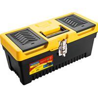Caixa Plástica Para Ferramenta Injetada Utility I Preta E Amarela 17 L