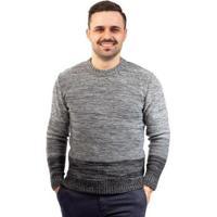 Blusa De Malha Gola Redonda Sumaré Masculina - Masculino-Cinza