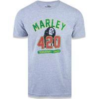 Camiseta Universal Bob Marley 06 New Era - Masculino-Cinza