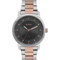 Relógio Euro Analógico Bicolor Trendy Feminino - Feminino