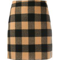 Sandro Paris Check Mini Skirt - Marrom