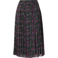 Kenzo Passion Flower Pleated Skirt - Verde