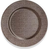 Sousplat Copa & Cia Texture Titânio Metalizado 36Cm - 29423