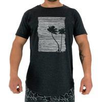 Camiseta Longline Mxd Conceito Palmeiras Tree Masculina - Masculino