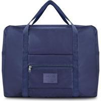 Bolsa De Viagem Jacki Design Dobrável - Unissex-Azul