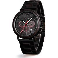 Relógio De Madeira Dododeer-C04 Preto