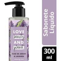 Sabonete Líquido Para Mãos E Corpo Love Beauty And Planet Óleo De Argan E Lavanda 300Ml