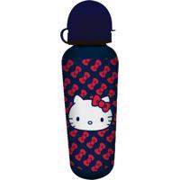 Garrafa Squeeze Azul 500Ml Hello Kitty Urban