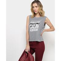 Blusa Calvin Klein Sm Feminina - Feminino-Grafite
