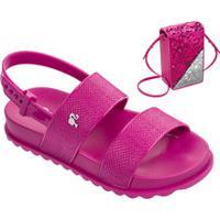 Sandália Infantil Barbie Brinde Bolsa Grendene Kids 21632