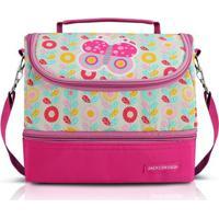Lancheira Jacki Design Térmica Com 2 Compartimentos- Borboleta - Feminino-Pink