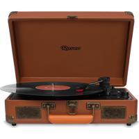 Vitrola Raveo Sonetto Com Bluetooth, Toca Discos, Entrada Usb Marrom Bivolt