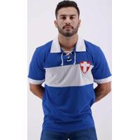 Camisa Retrô Palmeiras Cruz De Savoia - Masculino-Azul