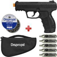 Pistola De Pressão Co2 Daisy 426 4.5Mm + Esferas De Aço Dispropil 500Un. + 5 Co2 Swiss Arms + Capa - Unissex