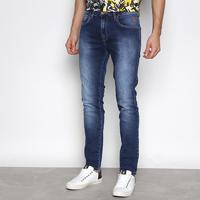 Calça Jeans Cavalera August Skinny Masculina - Masculino-Azul