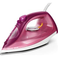 Ferro De Passar A Vapor Philips Easyspeed Plus Branco E Rosa Base De
