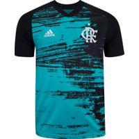 Camisa Pré-Jogo Do Flamengo 2020 Adidas - Masculina - Verde/Preto