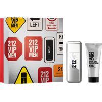 Kit 212 Vip Men Masculino Eau De Toilette 100Ml + Shower Gel 100Ml Único