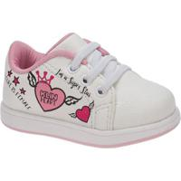 69c18c391 ... Tênis Bebê Klin Mini Gloss Grafismo Feminino - Feminino-Branco+Rosa