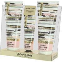 Vivian Gray Temptation Kit - Shower Gel Para Mãos E Corpo + Loção Hidratante Corporal + Creme Para M - Unissex-Incolor