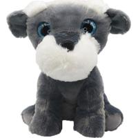 Cachorro De Pelúcia 17Cm - Schnauzer - Unik Toys