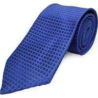 Gravata Concetto Seda Semi Slim Azul Royal
