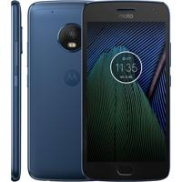 "Smartphone Motorola Moto G5 Plus Xt1683 Tv - Azul Safira - 32Gb - Dual-Chip - 12Mp - Tela 5.2"" - Android 7.0"