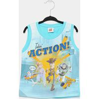 Regata Infantil Fakini Toy Story Action Masculina - Masculino-Azul