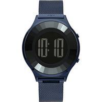Relógio Technos Redondo Digital Bj3572Ac/4P Feminino - Feminino-Azul