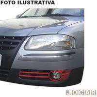 Aplique Aro Do Farol De Milha - Nk Brasil - Gol/Parati/Saveiro/G4 2006 Até 2014 - Auxiliar - Vermelho - Par - Cm-1376