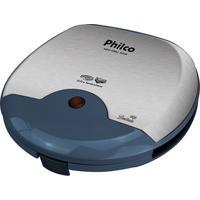 Mini Grill E Sanduicheira Philco Inox Azul 750W 220V