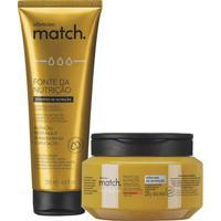Combo Match Fonte Da Nutrição Fios Grossos: Shampoo + Máscara Capilar
