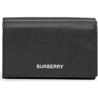 Burberry Carteira Pequena De Couro Granulado - Preto